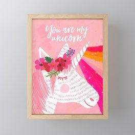 You are a unicorn Framed Mini Art Print