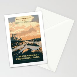 The Massasauga Park Poster Stationery Cards