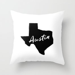 Austin, TX Throw Pillow
