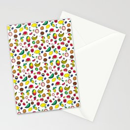 Tuti Fruti Quirky Tropical Fruit Pattern Stationery Cards