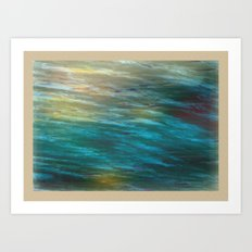 Turbulance in Breaking Light Art Print