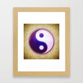 Yin Yang - Labradorite Indigo Framed Art Print