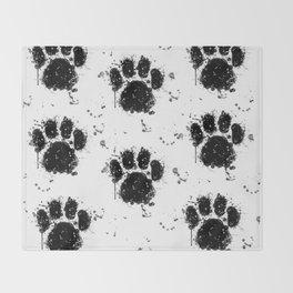 Pawprint Love Throw Blanket