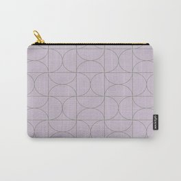 Modern Geometric Line Art in Lavender Carry-All Pouch