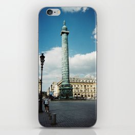 Place Vendome City of Paris, France photograph of monument from the street iPhone Skin