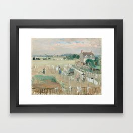 Hanging the Laundry out to Dry by Berthe Morisot Framed Art Print