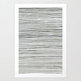 Water -minimalist line drawing Art Print