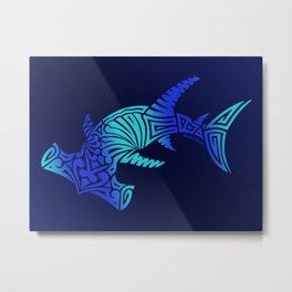 Ombre Blues Hammerhead Metal Print