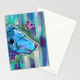 Blue Bear King Stationery Cards