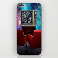 tv iPhone & iPod Skins featuring Television by Cs025