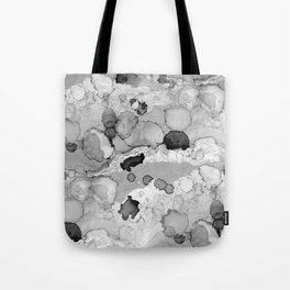 Design 117 Greyscale Abstract Tote Bag