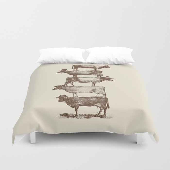 Cow Cow Nuts Duvet Cover
