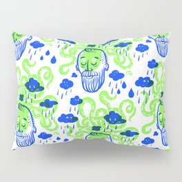 Octopus Thought Bubbles (Lime) Pillow Sham