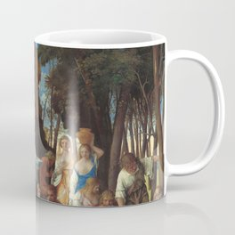 The Feast of the Gods Painting by Giovanni Bellini and Titian Coffee Mug