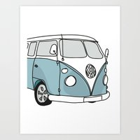 vw Art Prints featuring VW Camper by 1and9