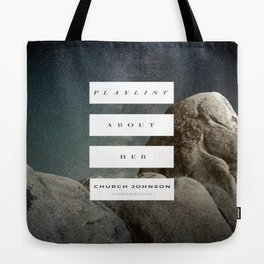 Playlist About Her Tote Bag