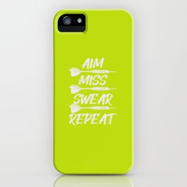 Dart Aim Miss Swear Repeat Darts Gift Darts Player Team iPhone Case