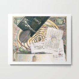 time (trompe l'oeil) Metal Print