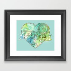 I Love Exploring Tidepools With You Framed Art Print