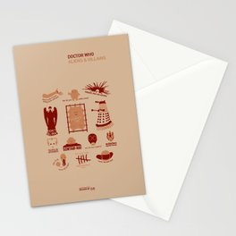 Doctor Who |Aliens & Villains Stationery Cards