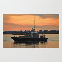 pilot Area & Throw Rugs featuring Pilot Vessel by Cynthia Guinn