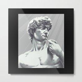 David Statue awesome art print bust painting Metal Print