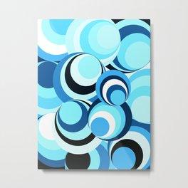 Spirals - New wave Blue Metal Print