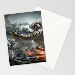 US Marines Devil-Dogs are marching on Stationery Cards