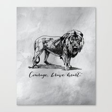 Courage, brave heart - Aslan - Chronicles of Narnia Canvas Print