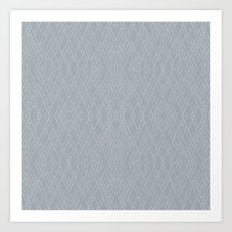 Art Deco Grey Silver Art Print