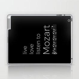 Live, love, listen to Mozart (dark colors) Laptop & iPad Skin