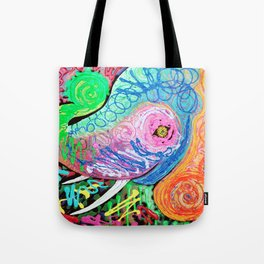 Painted Pachyderm Tote Bag