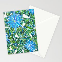 Water Lilies – Blue & Green Palette Stationery Cards