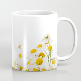 Many white flowerheads of chamomile bunch Coffee Mug