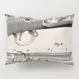 Bolt Action Rifle Patent - Repeating Receiver Art - Antique Pillow Sham
