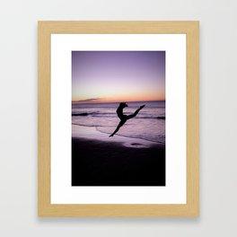 Just be Framed Art Print