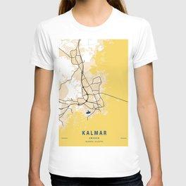 Kalmar Yellow City Map T-shirt