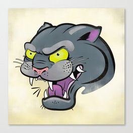 Panther Tattoo Flash Canvas Print
