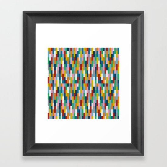 Bricks Rotate #2 Framed Art Print