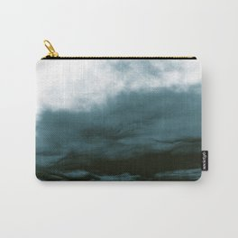 WHITE & BLUE & BLACK TOUCHING #1 #abstract #decor #art #society6 Carry-All Pouch