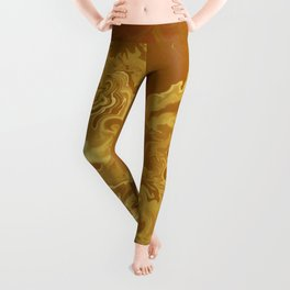 Dragon fire abstract Leggings