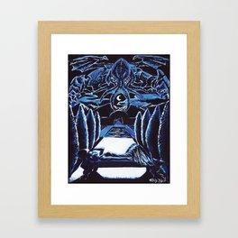 Cthulhu Dreaming Framed Art Print