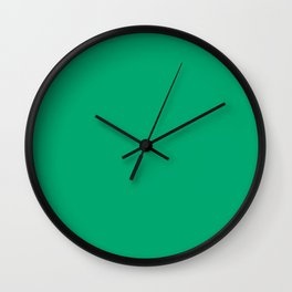 Sesame Street Green - solid color Wall Clock