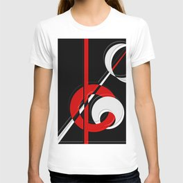 Black and white meets red version 28 T-shirt