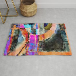 Artful Spirit Mosaic Bold Pattern Colorful Geometric Abstract - Corbin Henry Rug