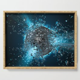 Disco planet explosion Serving Tray