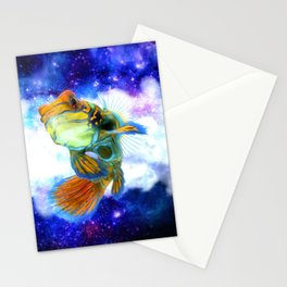 Mandarin Fish with Space Background Stationery Cards
