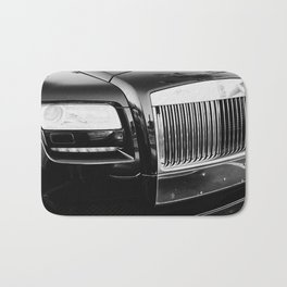 Rolls Grille // Black Luxury Car Close Up Photography Expensive Ultra Wealthy Autos Bath Mat