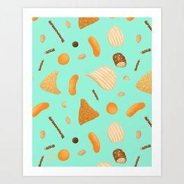 Dirty Finger Snacks Art Print