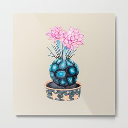 succulent flower Metal Print